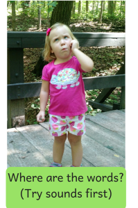 help toddlers learn to talk by using sounds