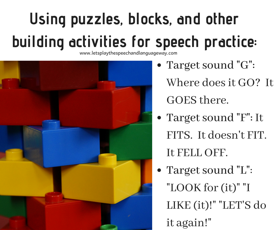 practice speech sounds with play