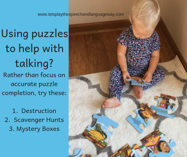 Speech development with puzzle play