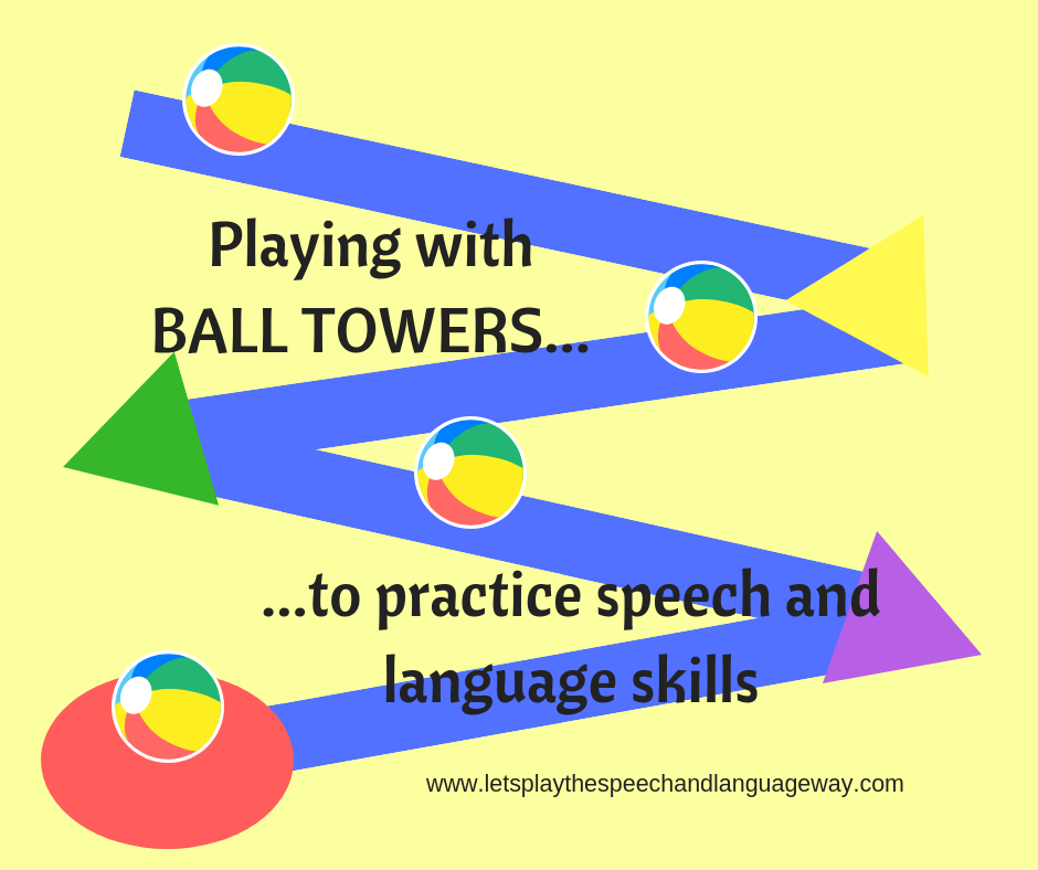 speech and language at home ball play