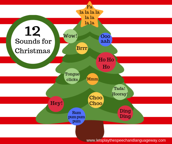 help toddlers talk with sounds at Christmas