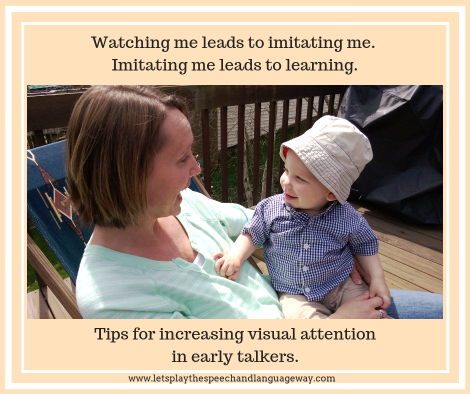 Help toddlers learn to talk by watching mouth movements